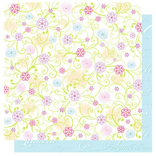 Best Creation Inc - Once Upon A Dream Collection - 12 x 12 Double Sided Glitter Paper - Flower Fair