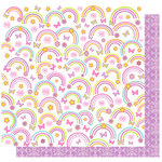 Best Creation Inc - Once Upon A Dream Collection - 12 x 12 Double Sided Glitter Paper - Rainbow Dots