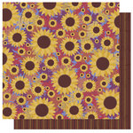 Best Creation Inc - Autumn Splendor Collection - 12 x 12 Double Sided Glitter Paper - Sunflower Medley
