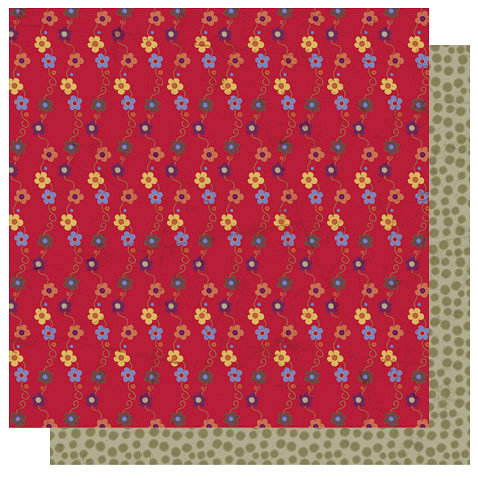 Best Creation Inc - Autumn Splendor Collection - 12 x 12 Double Sided Glitter Paper - Flower Cascade
