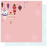 Best Creation Inc - FaLaLa Christmas Collection - 12 x 12 Double Sided Glitter Paper - Ornaments
