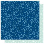 Best Creation Inc - Winter Wonderful Collection - Christmas - 12 x 12 Double Sided Glitter Paper - Snow Swirls