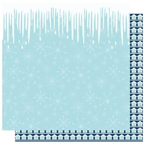 Best Creation Inc - Winter Wonderful Collection - Christmas - 12 x 12 Double Sided Glitter Paper - Icicles