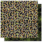 Best Creation Inc - Haunted House Collection - Halloween - 12 x 12 Double Sided Glitter Paper - I Want Candy