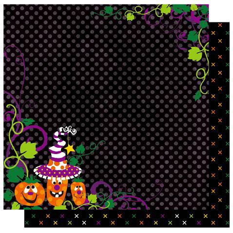 Best Creation Inc - Haunted House Collection - Halloween - 12 x 12 Double Sided Glitter Paper - Halloween Night