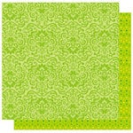 Best Creation Inc - Bella Collection - 12 x 12 Double Sided Glitter Paper - Lemon Grass