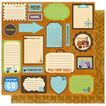 Best Creation Inc - Travel Forever Collection - 12 x 12 Double Sided Glitter Paper - Travel Tags