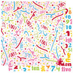 Best Creation Inc - Let's Party! Collection - 12 x 12 Double Sided Glitter Paper - Confetti