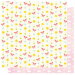 Best Creation Inc - Bunny Love Collection - Easter - 12 x 12 Double Sided Glitter Paper - Springtime Butterflies