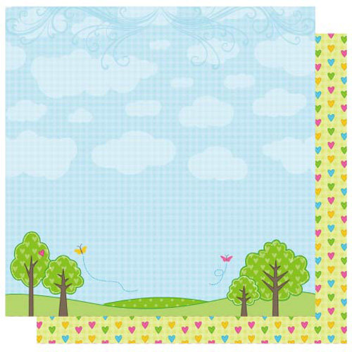 Best Creation Inc - Jubilee Collection - 12 x 12 Double Sided Glitter Paper - A Day in the Park