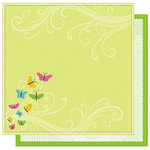 Best Creation Inc - Jubilee Collection - 12 x 12 Double Sided Glitter Paper - Springtime Swirls