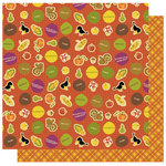 Best Creation Inc - Hello Fall Collection - 12 x 12 Double Sided Glitter Paper - Bountiful Harvest