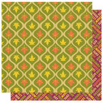 Best Creation Inc - Hello Fall Collection - 12 x 12 Double Sided Glitter Paper - Leaves are Falling