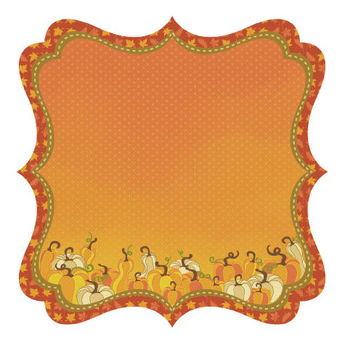 Best Creation Inc - Hello Fall Collection - 12 x 12 Die Cut Glitter Paper - Squished Squash