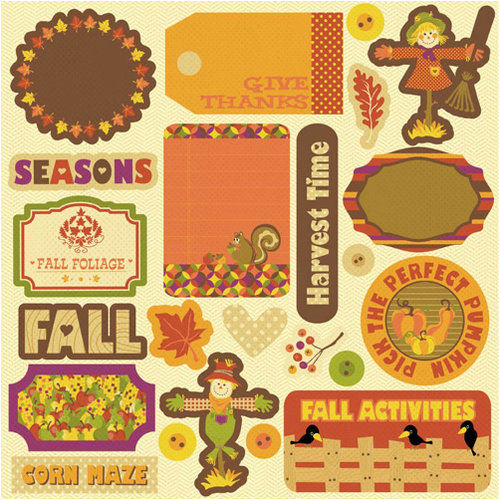 Best Creation Inc - Hello Fall Collection - Expressions - Die Cut Chipboard Pieces