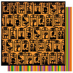 Best Creation Inc - Happy Haunting Collection - Halloween - 12 x 12 Double Sided Glitter Paper - Fright Night