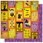 Best Creation Inc - Happy Haunting Collection - Halloween - 12 x 12 Double Sided Glitter Paper - Joker in the Pack