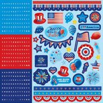 Best Creation Inc - I Love America Collection - Glitter Cardstock Stickers - Combo