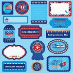Best Creation Inc - I Love America Collection - Expressions - Die Cut Chipboard Pieces