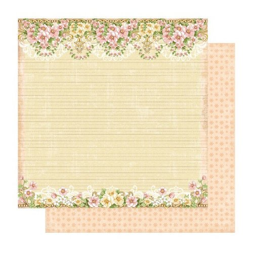 Best Creation Inc - A Little Dream Collection - 12 x 12 Double Sided Glitter Paper - Life