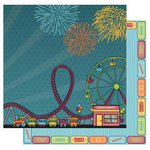 Best Creation Inc - Loops and Scoops Collection - 12 x 12 Double Sided Glitter Paper - Loop De Loop
