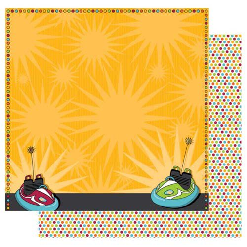 Best Creation Inc - Loops and Scoops Collection - 12 x 12 Double Sided Glitter Paper - Bumper Buddies