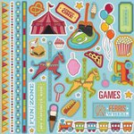 Best Creation Inc - Loops and Scoops Collection - Glitter Cardstock Stickers - Element