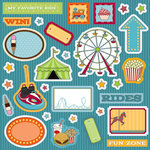 Best Creation Inc - Loops and Scoops Collection - Expressions - Die Cut Chipboard Pieces