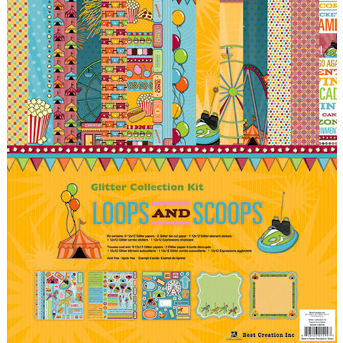 Best Creation Inc - Loops and Scoops Collection - 12 x 12 Glittered Collection Kit
