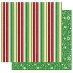 Best Creation Inc - Merry Christmas Collection - 12 x 12 Double Sided Glitter Paper - Christmas Stripes