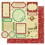 Best Creation Inc - Merry Christmas Collection - 12 x 12 Double Sided Glitter Paper - Greeting Tags