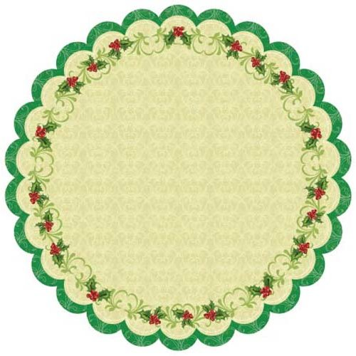 Best Creation Inc - Merry Christmas Collection - 12 x 12 Die Cut Glitter Paper - Christmas Holly