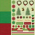 Best Creation Inc - Merry Christmas Collection - Glitter Cardstock Stickers - Combo