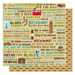 Best Creation Inc - My Hero Collection - 12 x 12 Double Sided Glittered Paper - My Hero Words