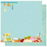 Best Creation Inc - Mom's Kitchen Collection - 12 x 12 Double Sided Glitter Paper - Breakfast Lunch Dinner