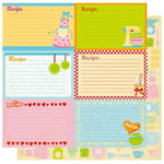 Best Creation Inc - Mom's Kitchen Collection - 12 x 12 Double Sided Glitter Paper - Recipe Tags