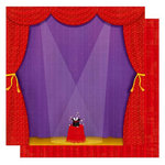 Best Creation Inc - Magic Show Collection - 12 x 12 Double Sided Glitter Paper - I Love Magic