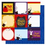 Best Creation Inc - Magic Show Collection - 12 x 12 Double Sided Glitter Paper - Magic Show Journal