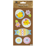 Best Creation Inc - Easter Collection - Metal Style Dimensional Stickers - Bunnies