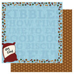 Best Creation Inc - Puppy Love Collection - 12 x 12 Double Sided Glitter Paper - Kibbles n Bits