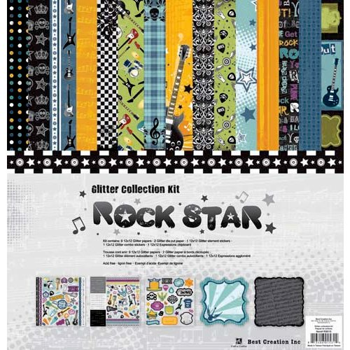 Best Creation Inc - Rock Star Collection - 12 x 12 Glittered Collection Kit