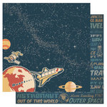 Best Creation Inc - Space Age Collection - 12 x 12 Double Sided Glitter Paper - Lift Off