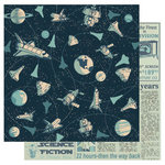 Best Creation Inc - Space Age Collection - 12 x 12 Double Sided Glitter Paper - Space Race
