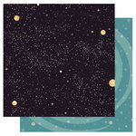 Best Creation Inc - Space Age Collection - 12 x 12 Double Sided Glitter Paper - Galaxy
