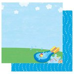 Best Creation Inc - Splash Fun Collection - 12 x 12 Double Sided Glitter Paper - Hit The Water
