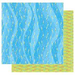 Best Creation Inc - Splash Fun Collection - 12 x 12 Double Sided Glitter Paper - Water Waves