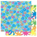 Best Creation Inc - Splash Fun Collection - 12 x 12 Double Sided Glitter Paper - Swimming In Style