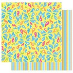 Best Creation Inc - Splash Fun Collection - 12 x 12 Double Sided Glitter Paper - It's Tubing Time