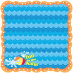 Best Creation Inc - Splash Fun Collection - 12 x 12 Die Cut Glitter Paper - H2O Yeah!