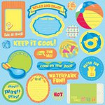 Best Creation Inc - Splash Fun Collection - Expressions - Die Cut Chipboard Pieces